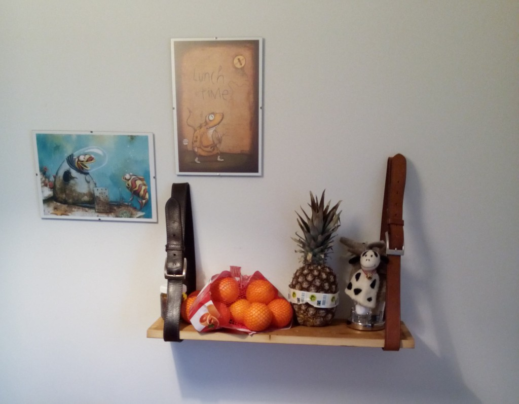 I made a shelf.